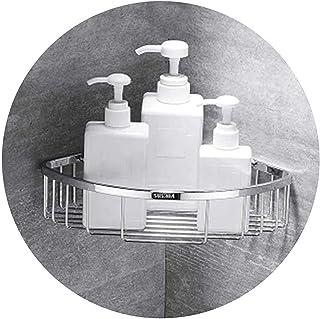 Étagères d'angle de salle de bain Supports pour caddie de douche Support triangulaire mural Organisateur de rangement Port...