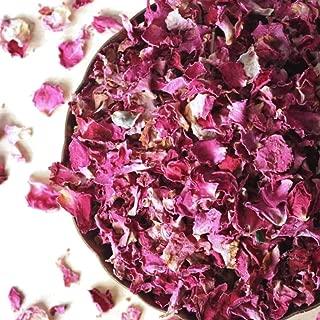 Dried Rose Petals, non-GMO, Naturally Harvested, Culinary-grade (3.2 ounces/90 grams)