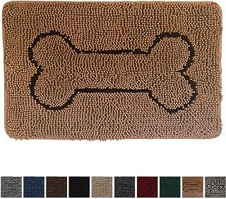 Gorilla Grip Original Indoor Durable Chenille Doormat, 30x20, Absorbent, Machine Washable Inside Mats, Low-Profile Rug Doormats for Entry, Mud Room, Back Door, High Traffic Areas, Bone Camel