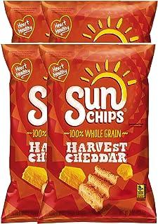 NEW SunChips Harvest Cheddar/ Sweet Potato & Sprinkled With Brown Sugar 100% Whole Grain Chips - 7 Oz (Harvest Cheddar, 4)