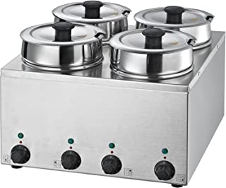 Sponsored Ad - Hakka 4X3.5L Commercial Countertop Food Warmer/Buffet soup pot