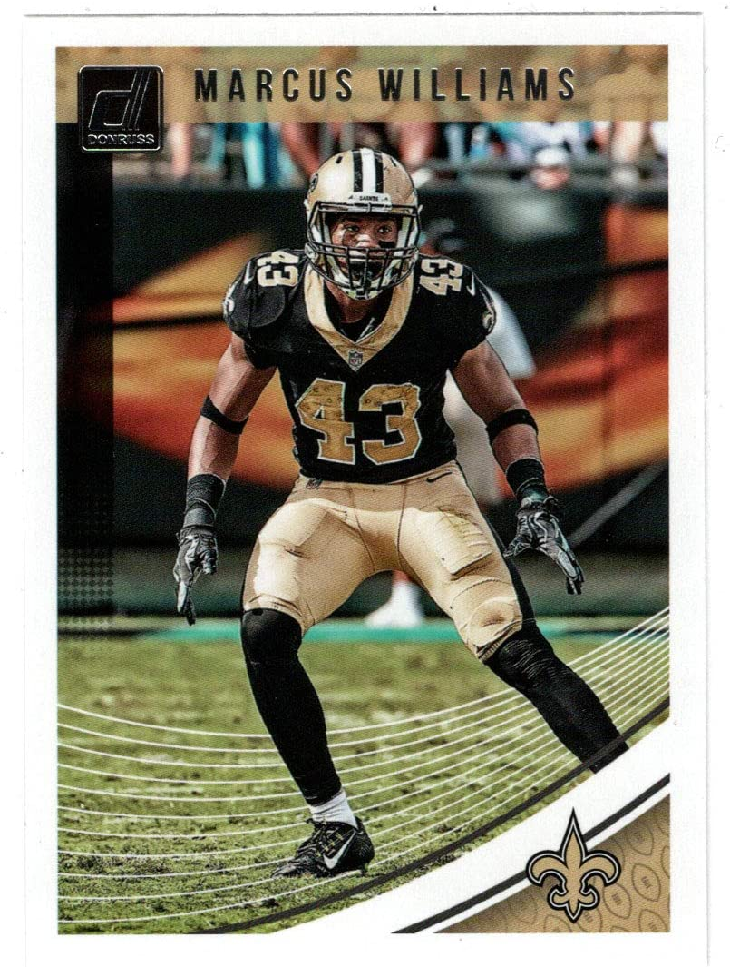 Marcus Limited price sale Williams - New Orleans 2018 High quality new Saints Panini Card Football