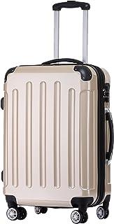 BEIBYE Zwillingsrollen 2048 Hartschale Trolley Koffer Reisekoffer Taschen Gepäck in M-L-XL-Set Champagner, M