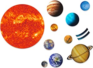 SpriteGru Giant Magnetic Solar System 12 Individual Briefing Magnets.Perfect Toddlers Kids. (24 PCS)