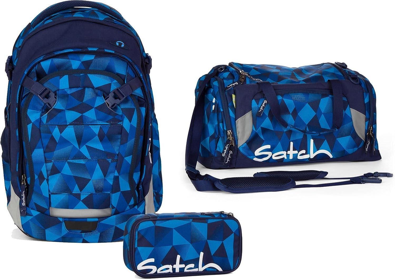 Satch Schulrucksack-Set 3-tlg 3-tlg 3-tlg Match Blau Crush 9A2 blau polygon B00YDIP1HC | Moderater Preis  80d976