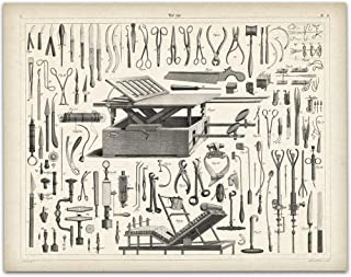 Vintage Medical Instruments - 11x14 Unframed Art Print - Great Gift For Nurse's Day!