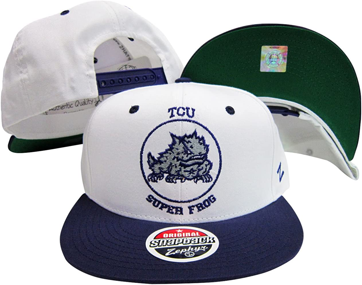 Texas Christian Horned Frogs Snap Back Hat White/Purple