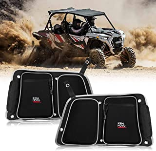 RZR Rear Door Bags, KEMIMOTO Passenger and Driver Side Storage Bag Set with Knee Pad Compatible with 2014-2019 Polaris RZR 4 900, XP4 1000, 4 Door Turbo