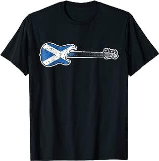 4 String Bass Guitar Shirt Scotland Flag Bass Player Gift