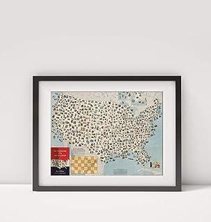 خريطة الولايات المتحدة الأمريكية 1962، خريطة التخطيط للرحلات بالولايات المتحدة. |العنوان: خريطة تنظيم الرحلات الخاصة بالات...