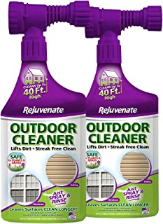 Rejuvenate Outdoor Window Spray and Rinse Cleaner with Hose End Adapter