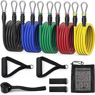 MeaMae care Gomas elasticas Fitness Bandas de Resistencia Cintas elasticas musculacion 12 PCS de 100 Libras con Anclaje de...