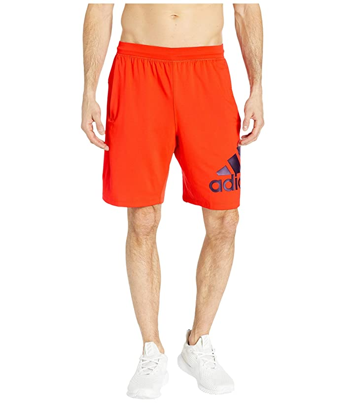 adidas 4KRFT 9 Badge of Sport Shorts (Active Red) Men
