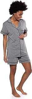 Texere Women's Bamboo Shorts PJ Set - Lightweight Comfy PJs (Classic Dream)