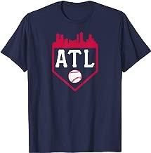 Atlanta Baseball ATL Vintage Home Plate Skyline Brave Gift T-Shirt