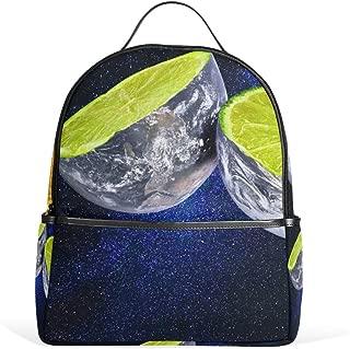 MUOOUM Uniuqe Fruit Lemon Lunar Backpack Casual Daypack School College Travel Bag for Teens Boys Girls