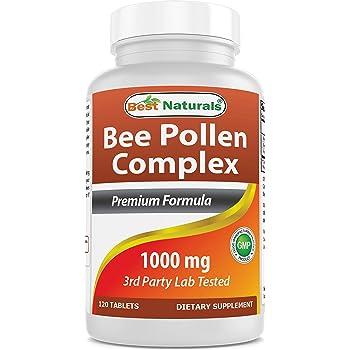 Best Naturals Bee Pollen Complex 1000 mg 120 Tablets