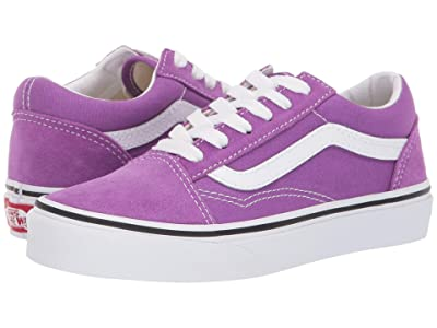 Vans Kids Old Skool (Little Kid/Big Kid) (Dewberry/True White) Girls Shoes