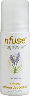 nfuse Magnesium Deodorant - Natural Roll On - Patented Technology - Aluminum Free - Women Owned - Lavender