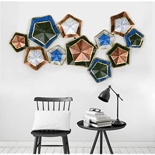 0560bafffe Collectible India Metal Multicolor Stars Wall Mounted Art 3D Decorative  Hanging Sculpture,(Size 25