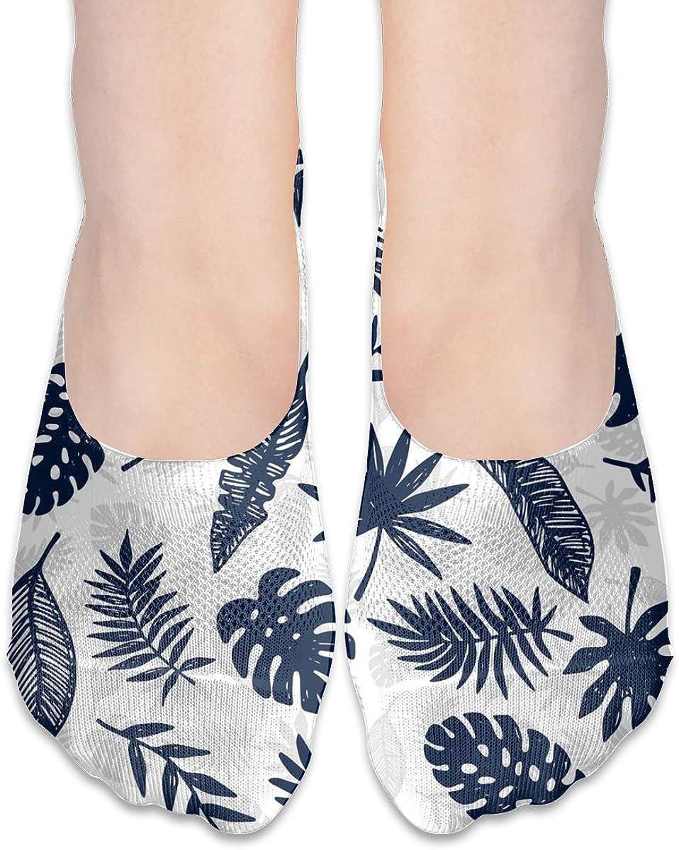 No Show Socks Women Men For Tropical Leaves Hawaii Jungle Flats Cotton Ultra Low Cut Liner Socks Non Slip