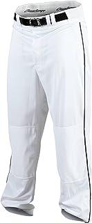 Rawlings Youth Baseball Pant (White/Black, XX-Large)