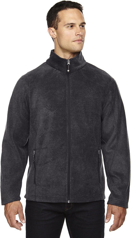 North End Mens VoyageFleece Jacket (88172) -HTHR CHRCL 7 -L