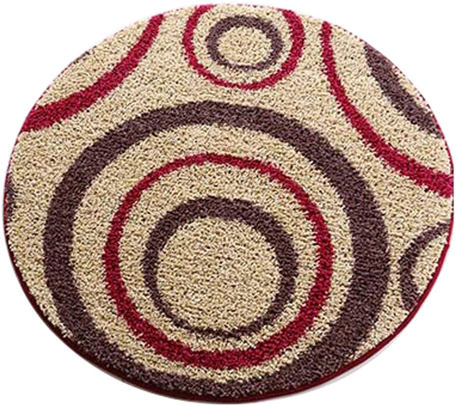 Style Door Mats Round Carpet Computer Chair Cushion Living Room Bedroom Bed Blanket Pad Table Hanging Basket Interior Decoration Bathroom Home Mat (can Be Cut)