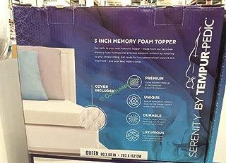 Mattress Serenity Memory Foam Topper Queen