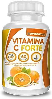 Vitamina C 1000 mg | 60 comprimidos Altamente Concentrados | Antioxidante | Complemento Alimenticio Sin Gluten | No Ácida | Combate la Fatiga y el estrés + Ayuda al Aumento