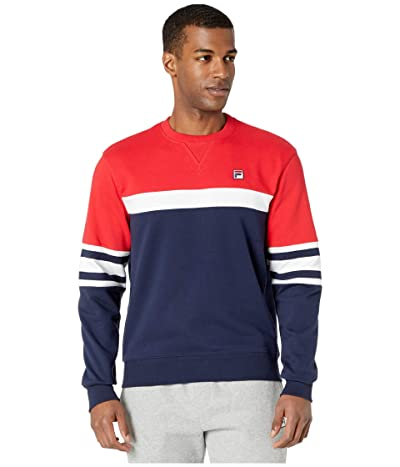 Fila Verus Colour Blocked Crew (Peacoat/Chinese Red/White) Men