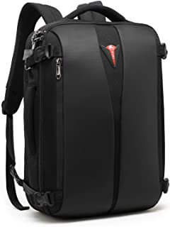 POSO Business 15.6 Laptop Backpack Anti-Theft Travel Bag with TSA Approved Lock and USB Charging Port for Unisex-Polyester, Black