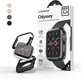 SwitchEasy Odyssey Case for Apple Watch Series 5 and 4 (Flash Gray, 44mm)