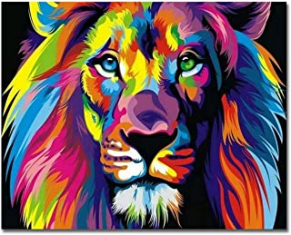 DELFINO Paint By Numbers For Kids & Adult & Beginners _Diy Digital Large Living Room Bedroom Animal Coloring Decorative Pa...