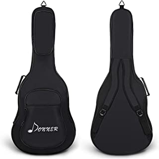$21 » Donner 36 Inch Premium Acoustic Guitar Gig Bag Backpack Soft Case Cover Water-Resistant Nonwovens Interior Thicken Sponge Pad Two Pockets Black