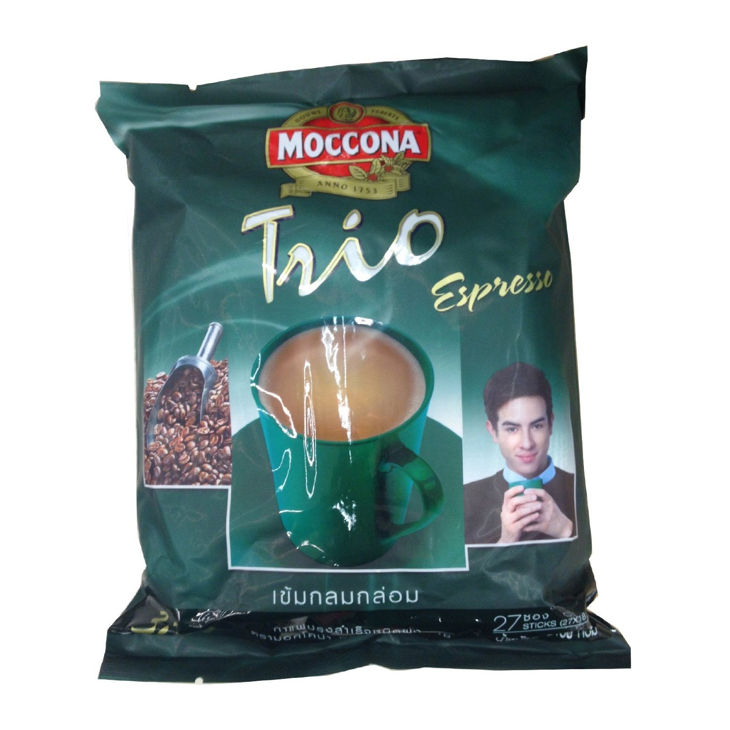 shipfree Industry No. 1 Moccona Trio Instant Coffee Mixed Espresso3 In1 Stic 27 Pack 18g