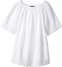 Cotton Lace Hem Dress (Little Kids)