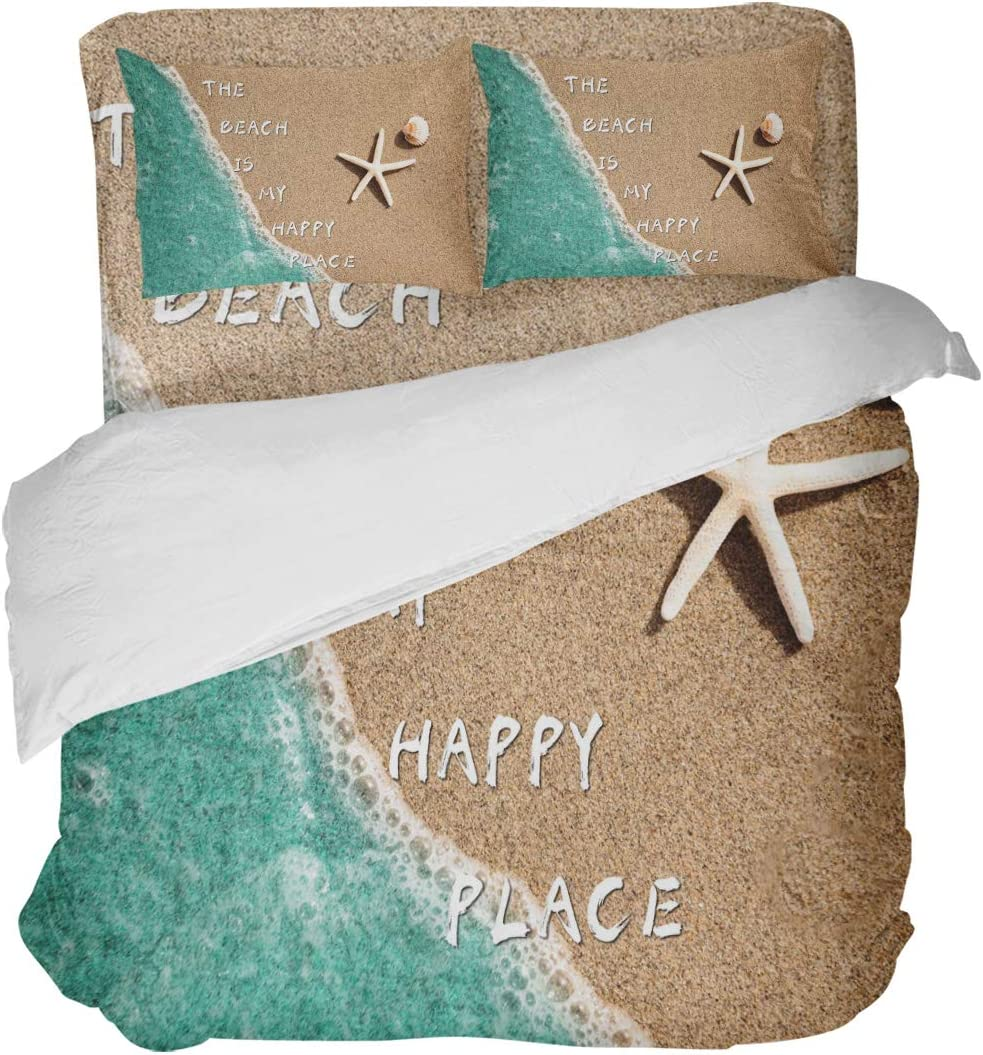 Large-scale sale LOVE HOME DAY Summer Coastal Beach Bedding 5% OFF Sets Sand Starfish Fu