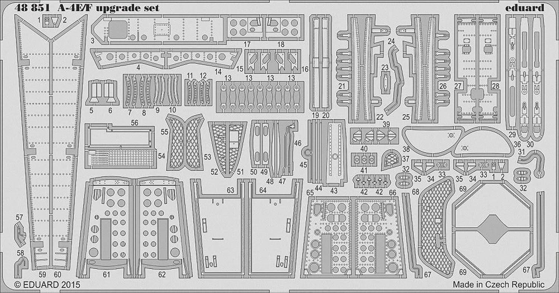 Eduard Photoetch 1 48  A4E F Upgrade Set (Eduard Hasegawa)