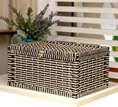 MAHFEI Rattan Storage Basket, Hand Woven Storage Organizer Box Clamshell Design Storage Basket For Clothes Used To Store S...