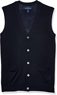Amazon Brand - Buttoned Down Men's Italian Merino Wool Lightweight Cashwool Button-Front Sweater Vest