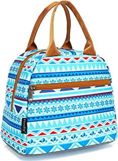 Lunch Bag Tote Bag Lunch Organizer Lunch Holder Insulated Lunch Cooler Bag for Women/Men,Multi