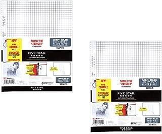 "Five Star Filler Paper, Graph aZcbu Ruled, Reinforced, Loose-Leaf, 11 x 8 1/2"" Sheet Size, 100 Sheets (2 Pack)"