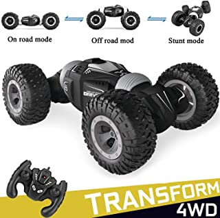 Offroad Remote Control Car,4WD RC Remote Control Monster Truck 2.4Ghz USB Rechargeable RC Truck Toy RC Racing Buggy Hobby Car for Boys Kids Christmas Birthday Gift (Black)