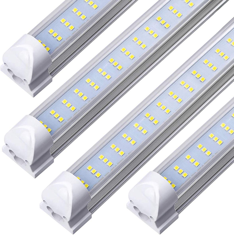 8FT LED Tube Light Fixture - 5 ☆ popular Cool Cle 6000K White 12000LM 120W online shop