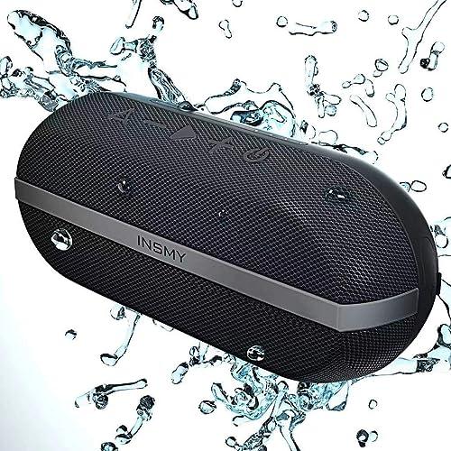 INSMY Portable Bluetooth Speakers, 20W Wireless Speaker Loud Stereo Sound Rich Bass, IPX7 Waterproof Floating, TWS Mo...