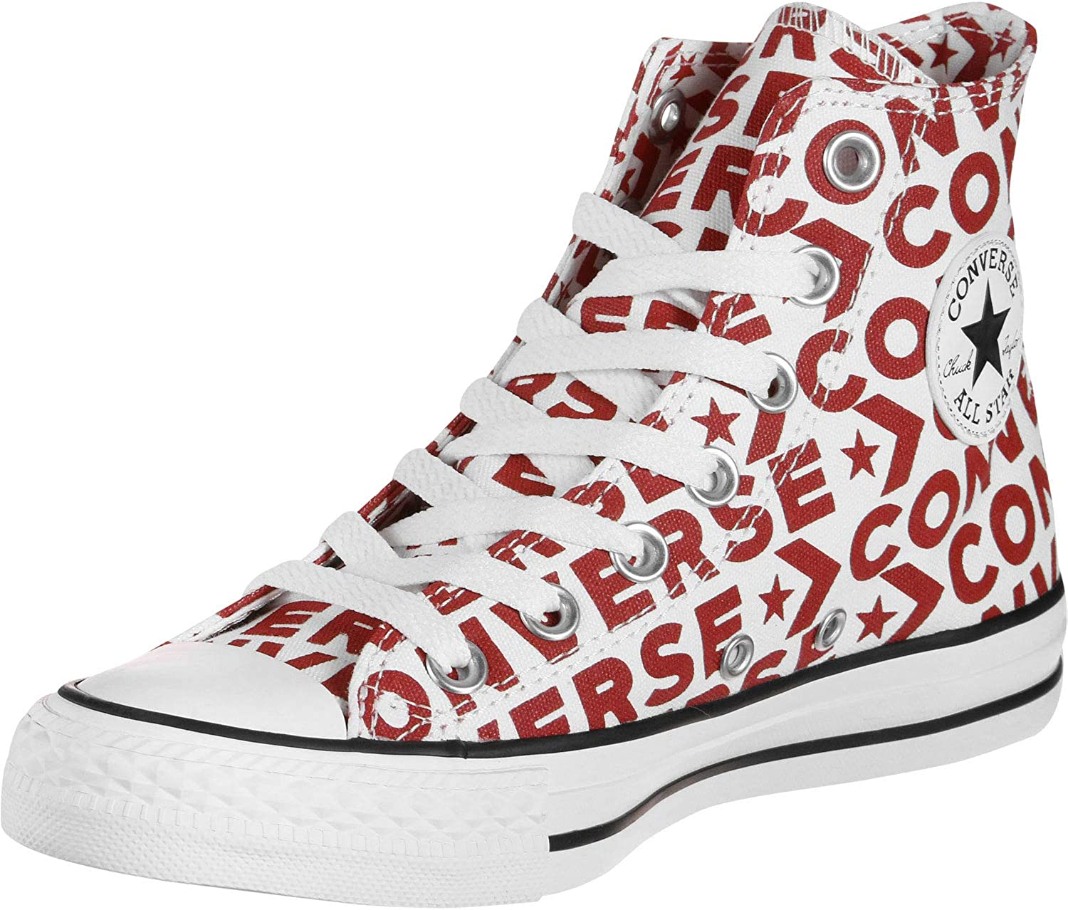 Converse All Star Hi shoes Optical White red