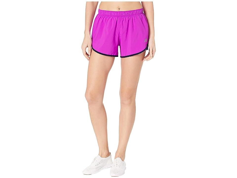 New Balance Core 3 Woven Shorts (Voltage Violet) Women