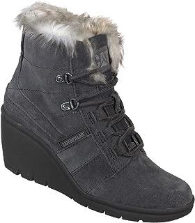 Cat Harbor Women's Wedge Boots Dark Grey