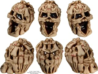 Nose Desserts Sexy Group-of-Nudes Mermaid Nymphs Sensual Grinning Realistic Halloween Replica Human Skull Home Statue Gifts Decor